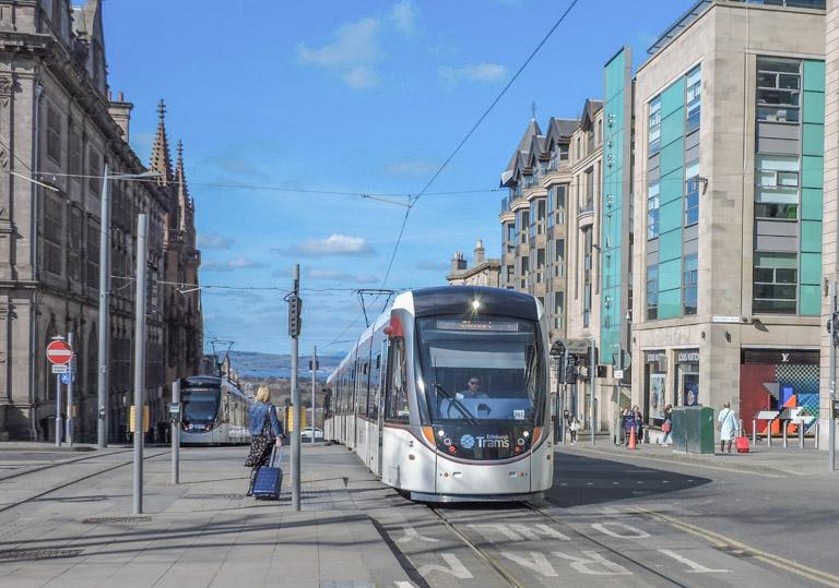 Edinburgh New Town Tram Multrees Walk Harvey Nichols