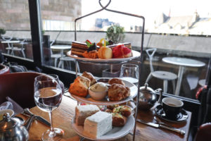 Best Afternoon Tea in Edinburgh trays of cakes, sandwiches and scones