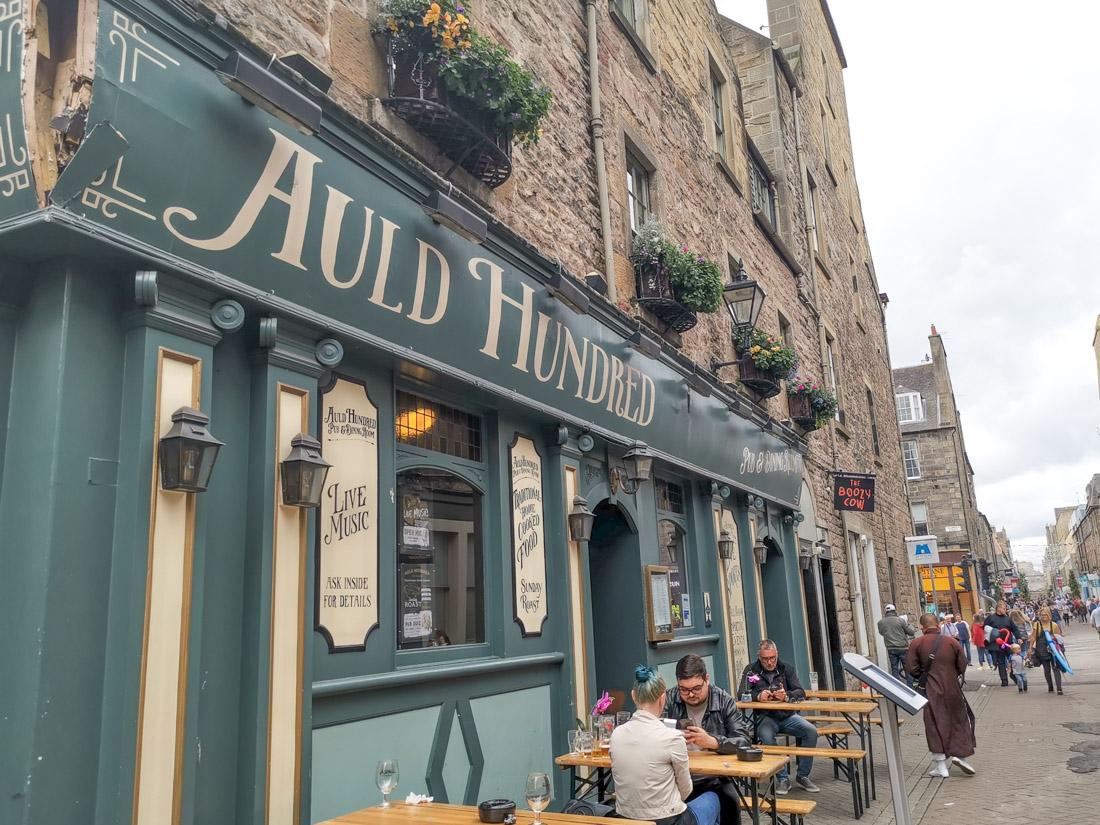 Auld Hundred Rose Street Pub Edinburgh