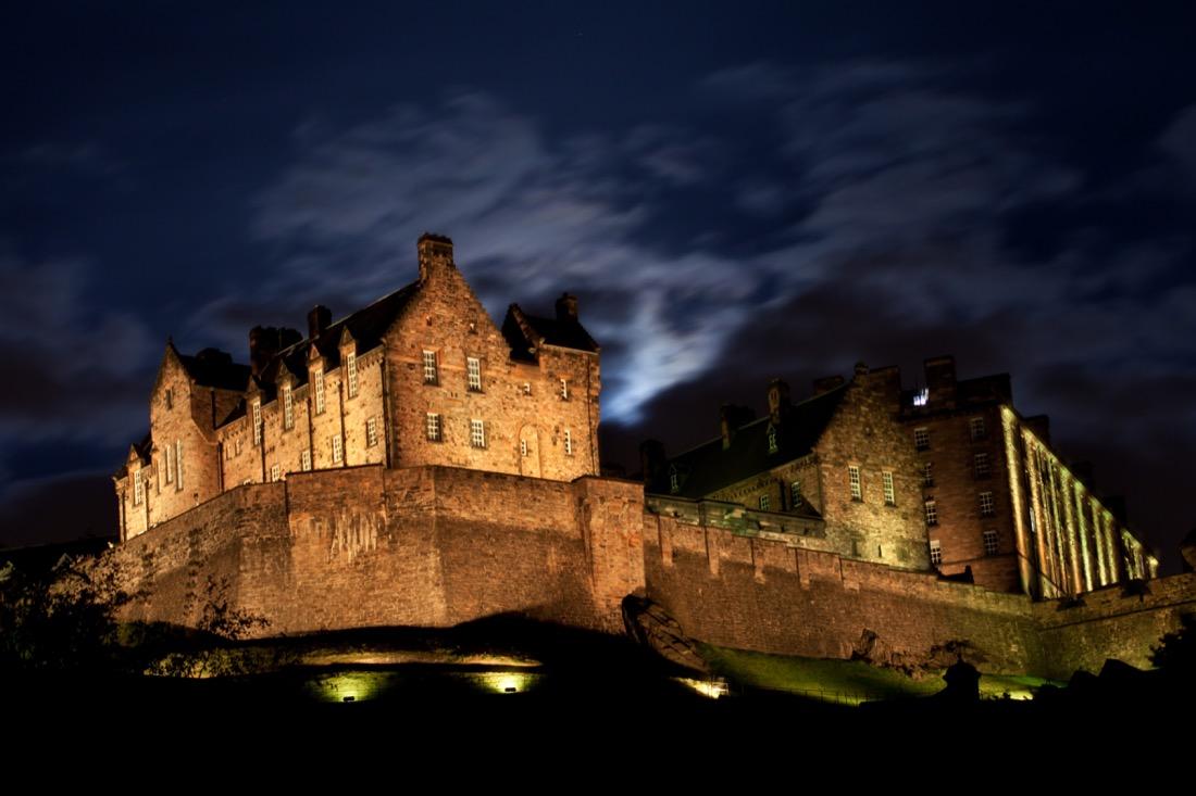 Edinburgh Castle Light Up at Night