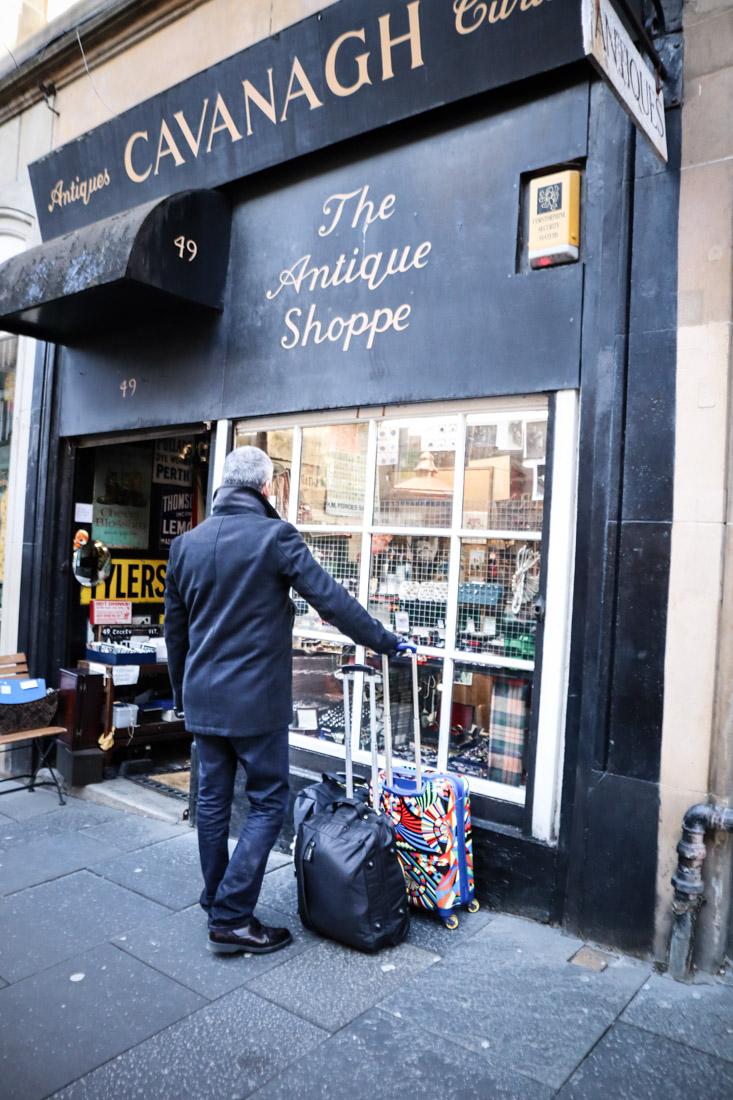 Cavanagh Cockburn Street Shopping Backpack Luggage Suitcase Edinburgh_