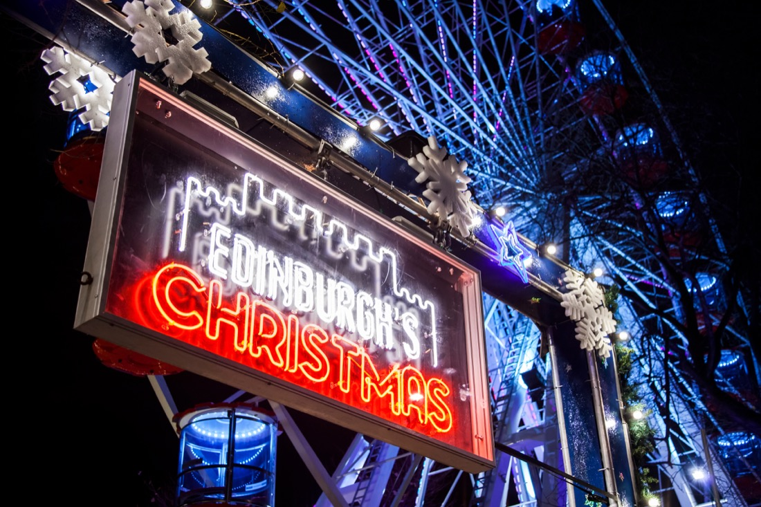 Edinburgh Christmas sign