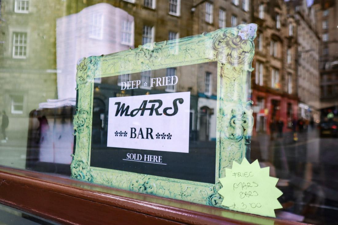 Deep Fried Mars Bar Food Grassmarket Edinburgh