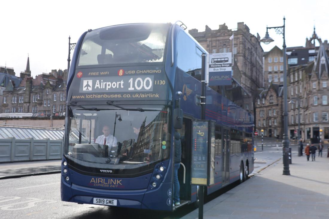 Edinburgh Airport Bus New Town Transport_