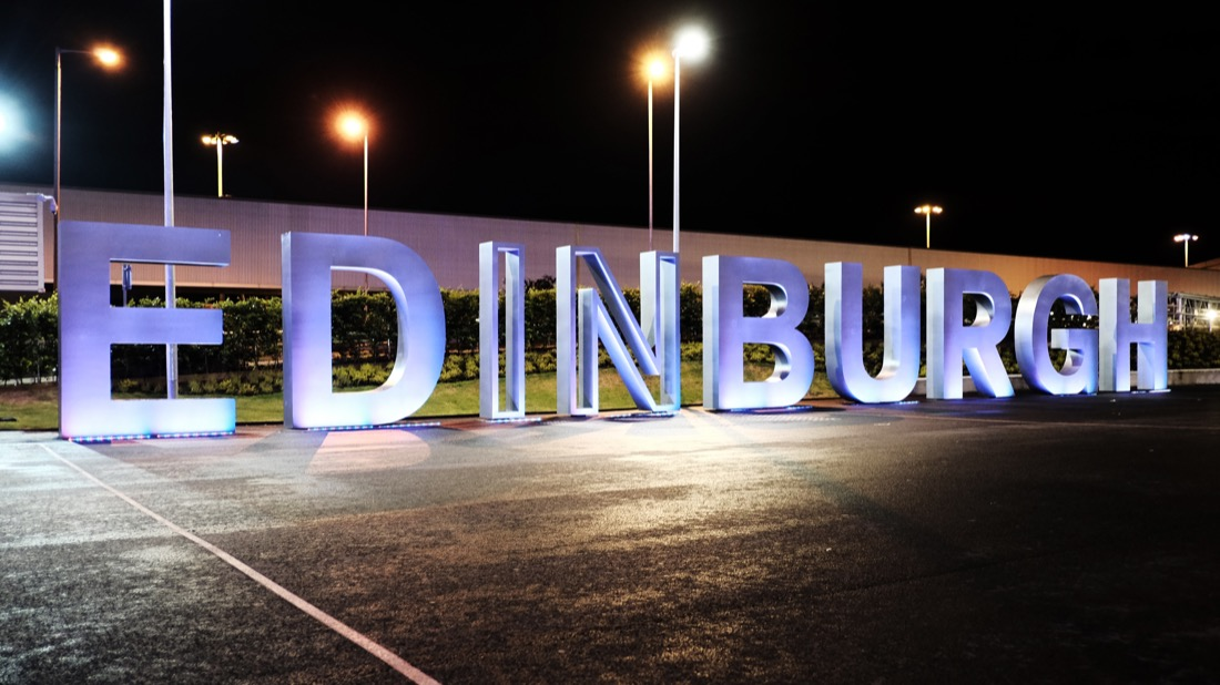 Edinburgh Airport Sign. Transport.