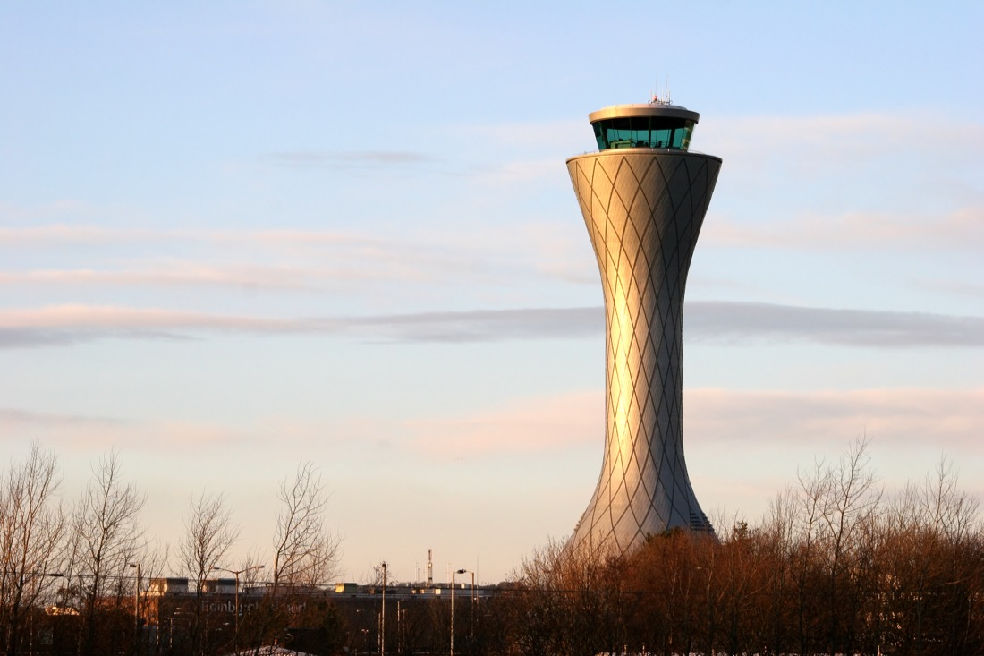 Edinburgh Airport Air Traffic Control Tower Trainsport.