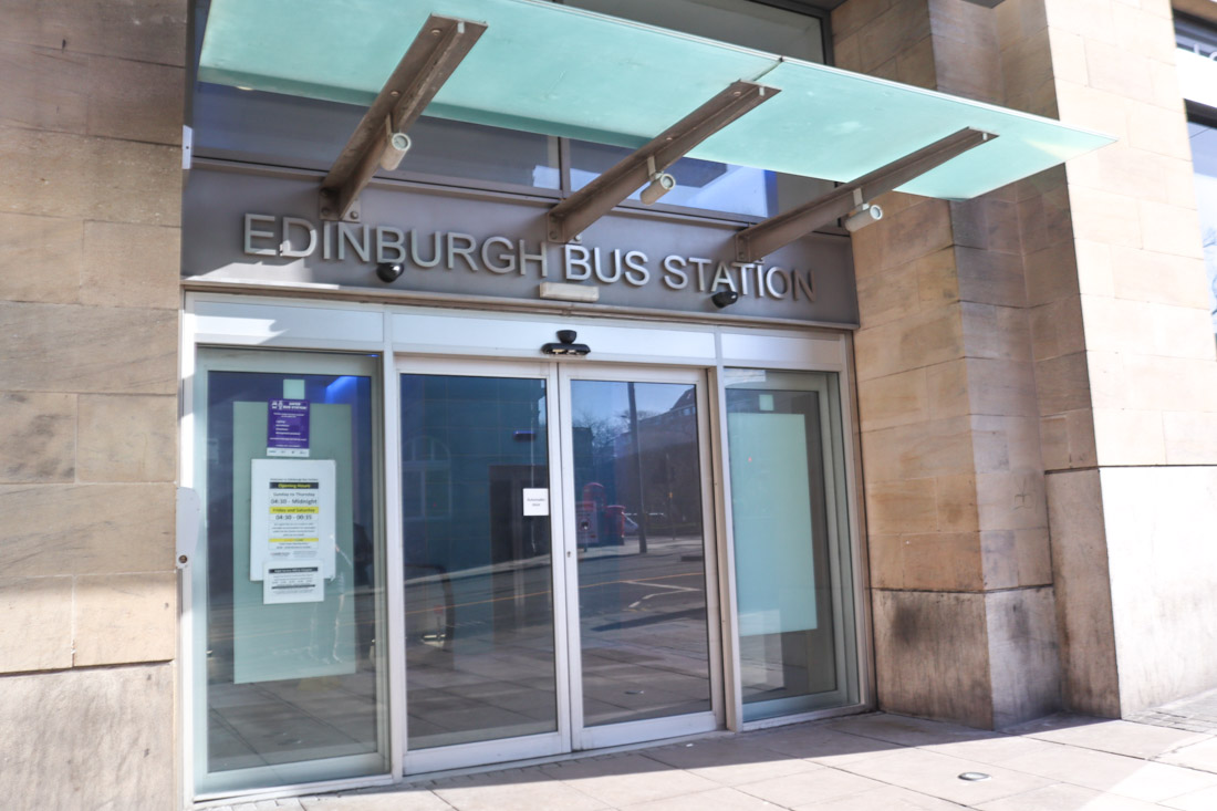 Edinburgh Bus Station Entry