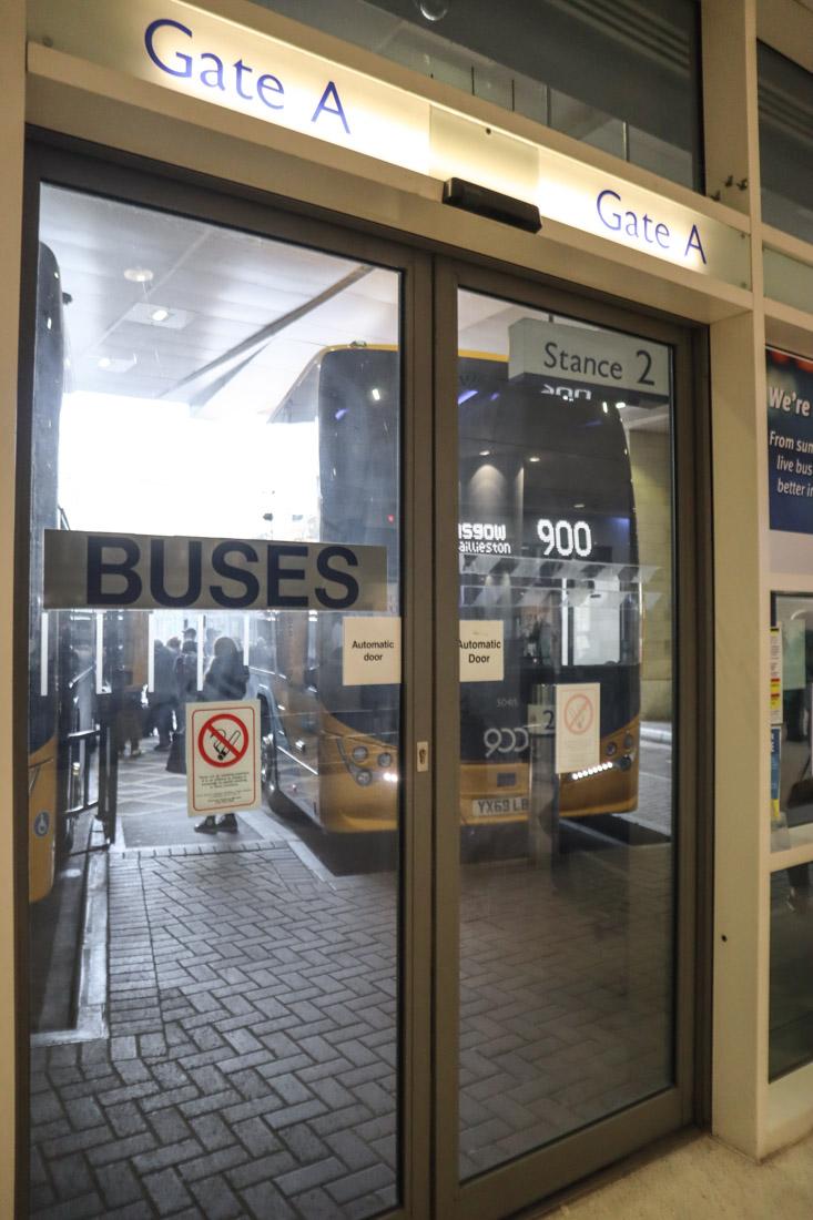 Edinburgh Bus Station Gates