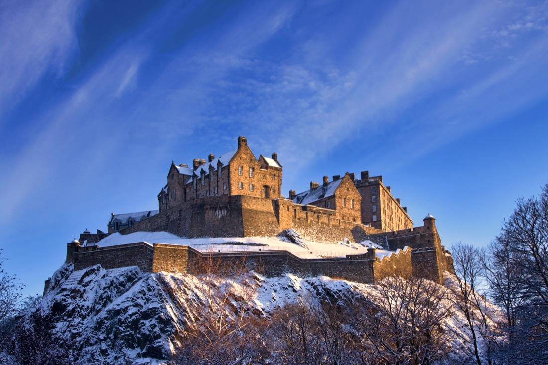 Edinburgh Castle. Winter. Snow