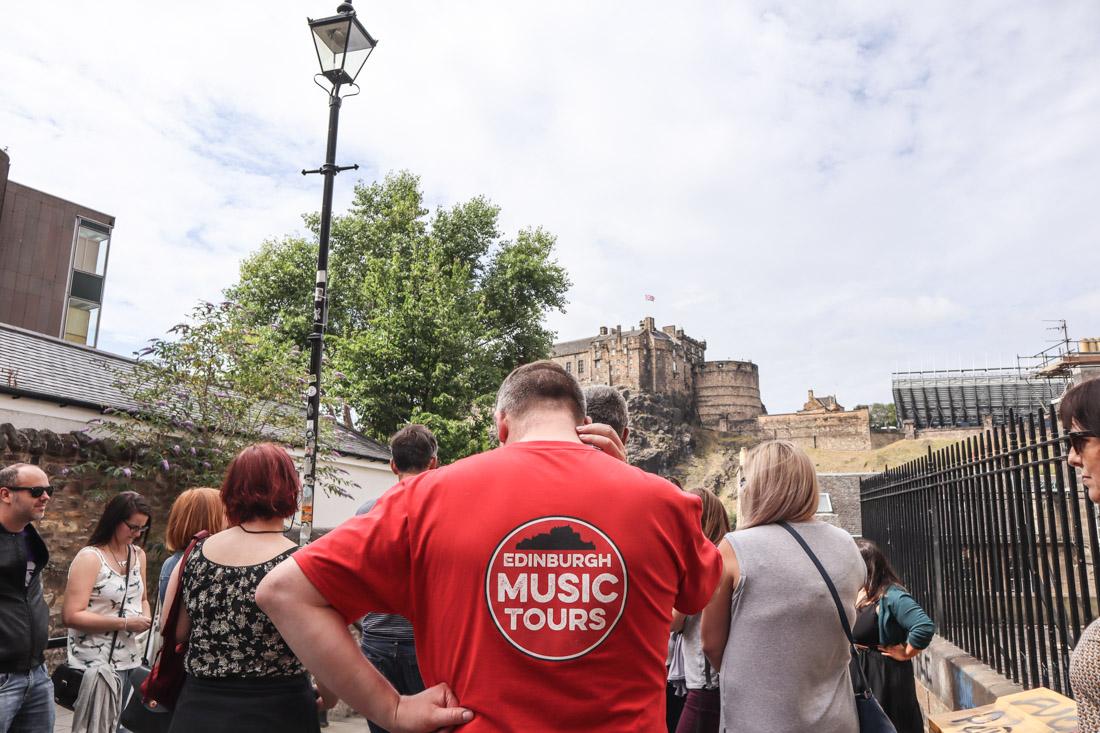 Edinburgh Music Tour Castle The Vennel