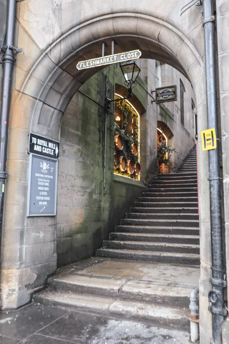 Fleshmarket Close Market Street Edinburgh Old Town_