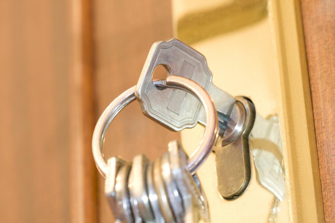 House key in lock locksmith services Edinburgh