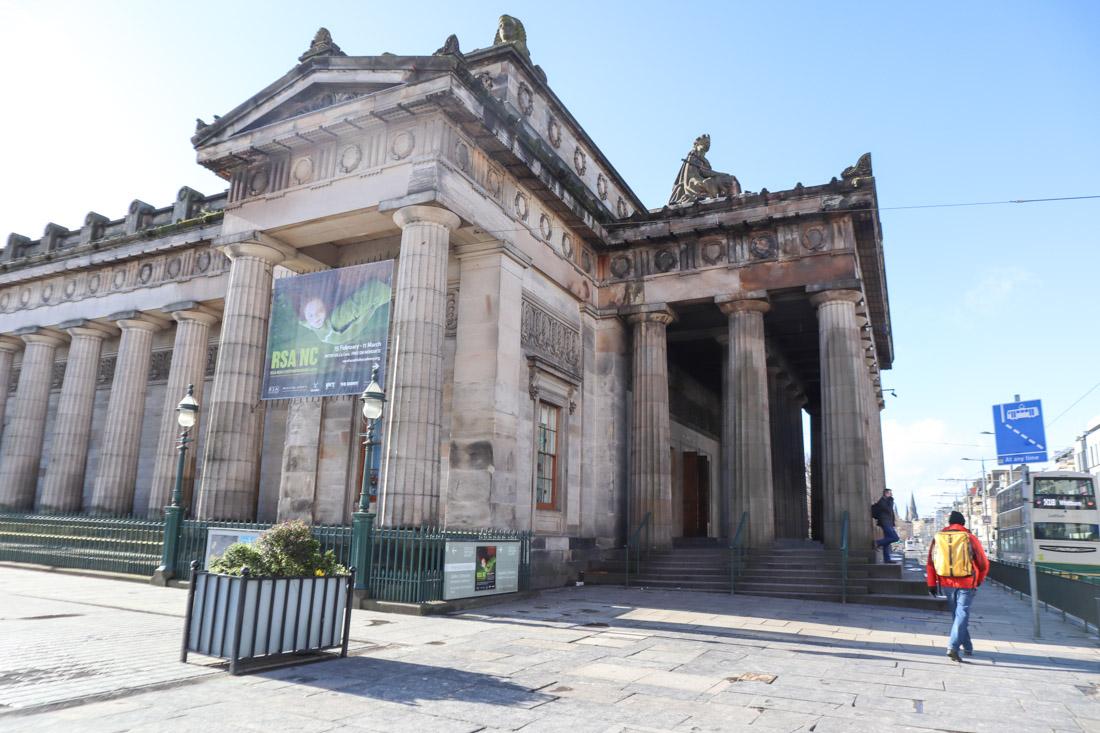 Royal Scottish Academy Edinburgh Museum Man With Backpack_