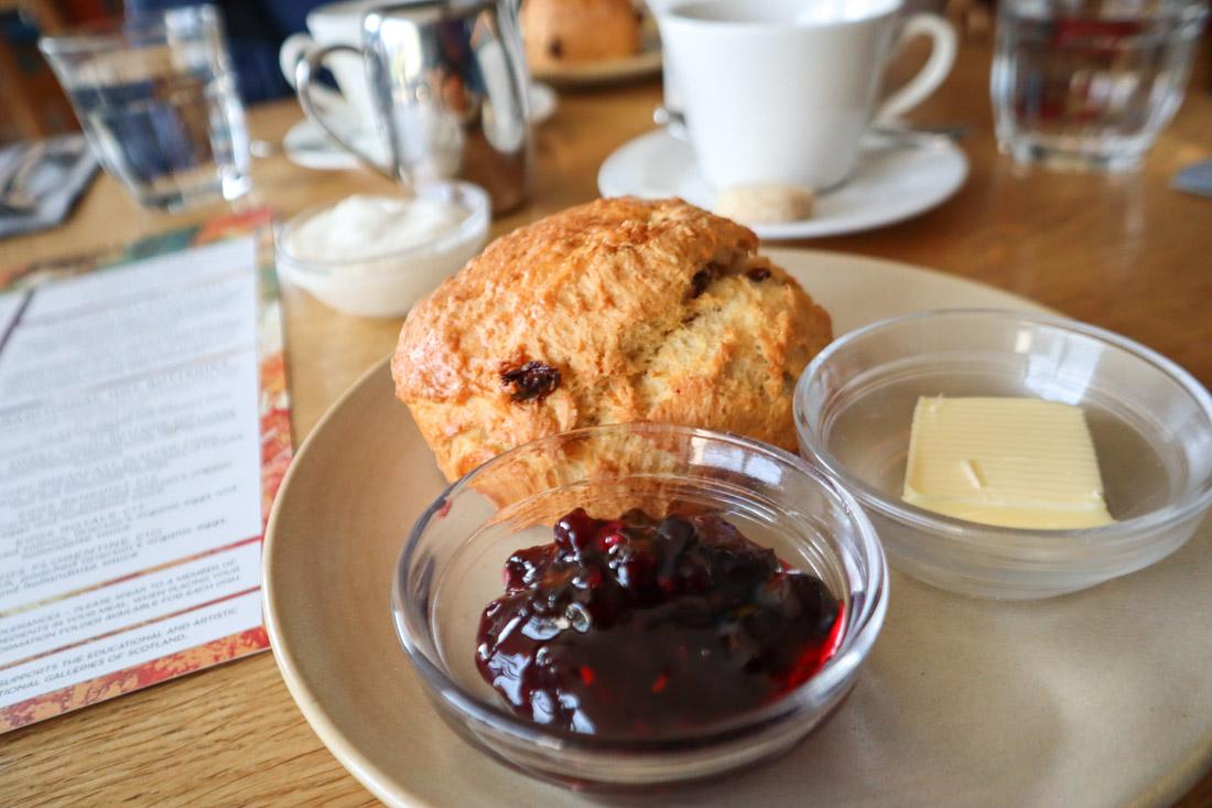 Scottish National Gallery Food Scone Tea Edinburgh Museum Princes Street
