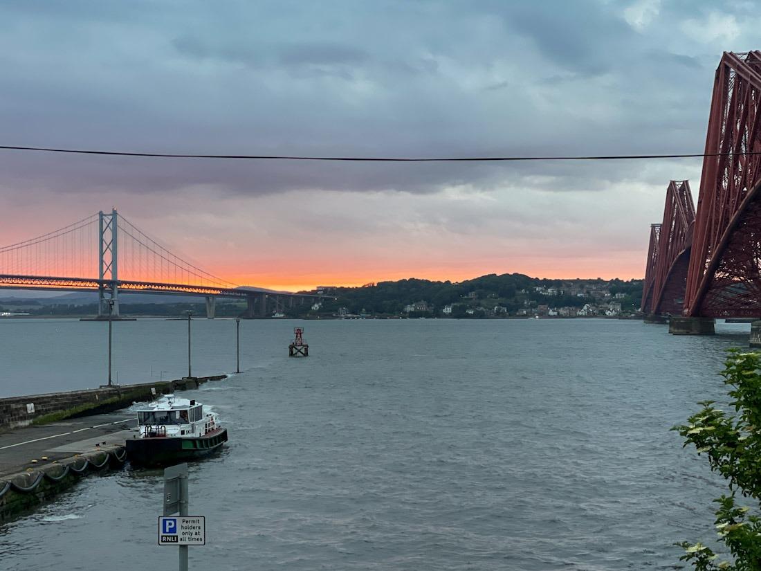 South Queensferry sunset bridges