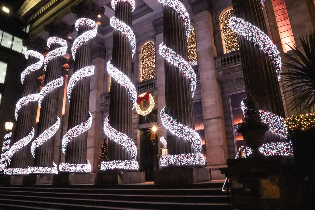 The Dome Christmas Tree Winter Edinburgh George Street_