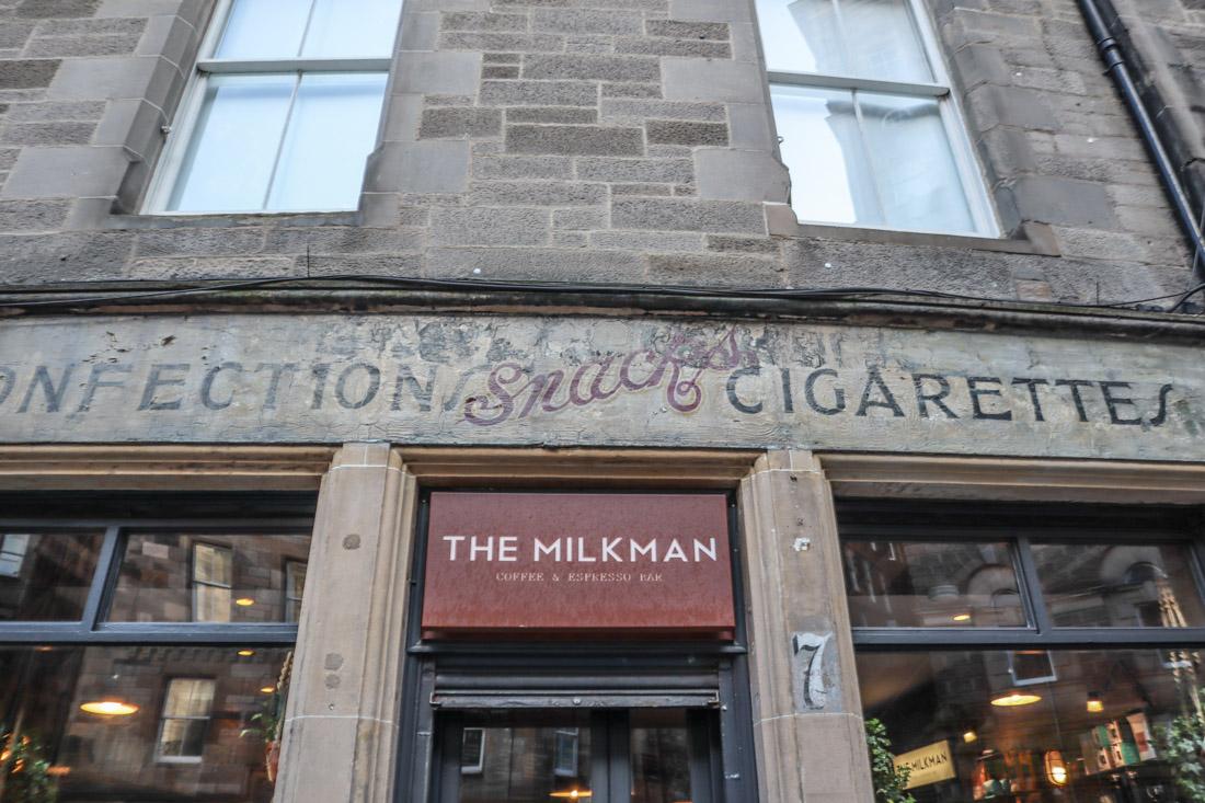 The Milkman Coffee Cafe Food Cockburn Street Edinburgh_