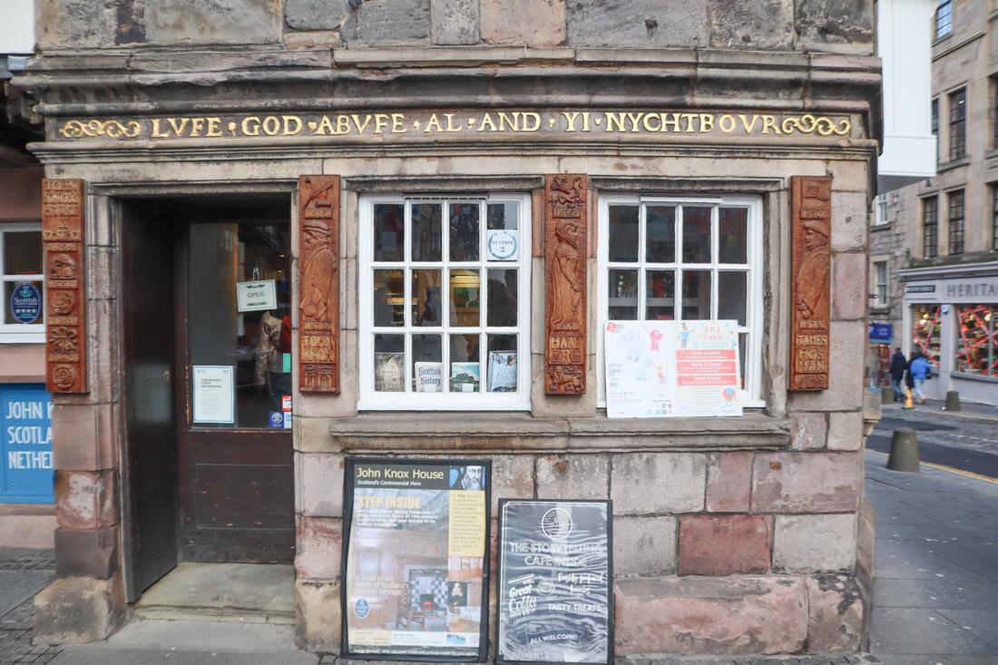 Tolbooth John Knox House Storytelling Centre Museum in Edinburgh