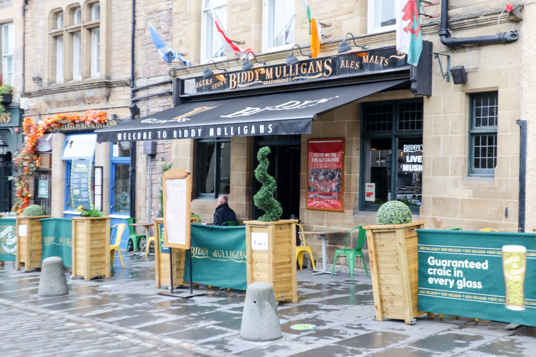 Biddy Mulligans Pub Food in Grassmarket Edinburgh