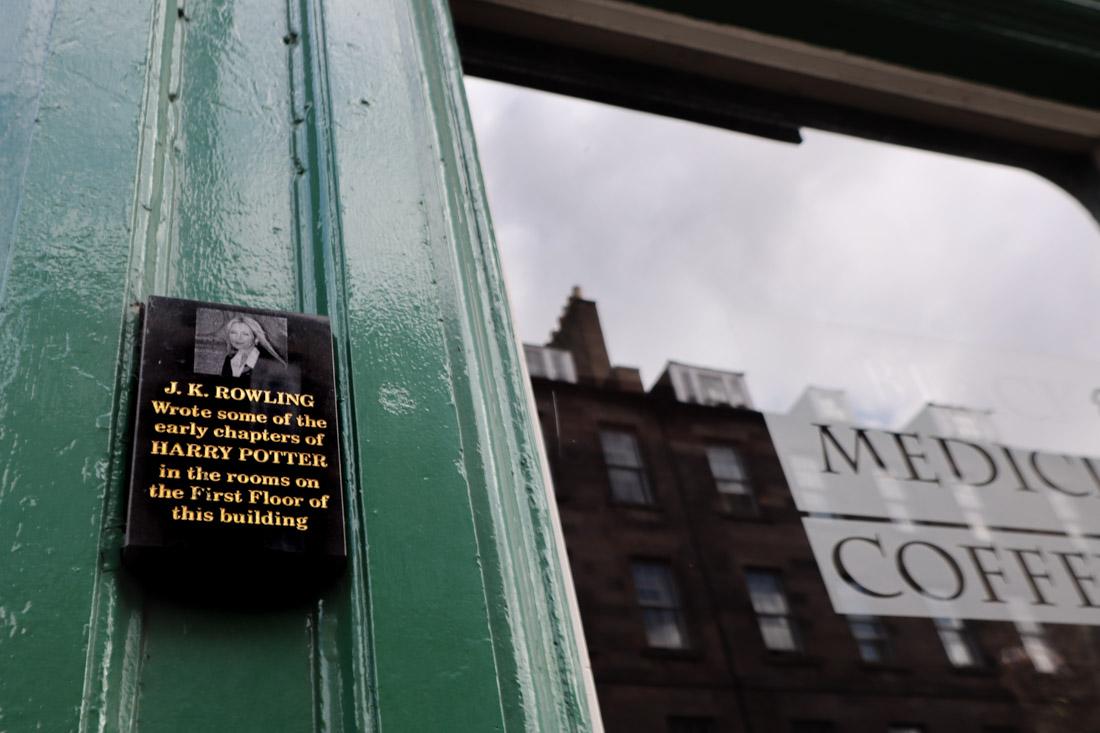 Black Medicine Cafe JK Rowling Plaque Food Harry Potter Edinburgh