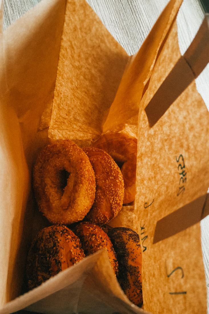 Bross bagels in bag food