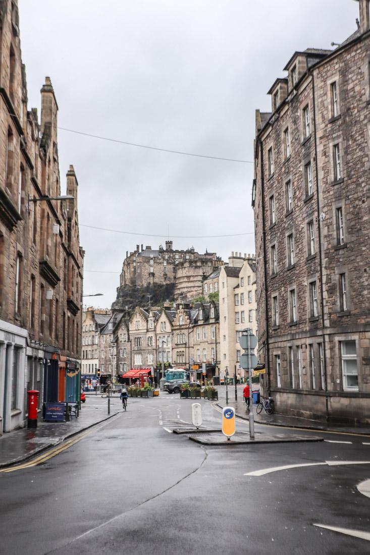 Edinburgh Castle View From Grassmarket