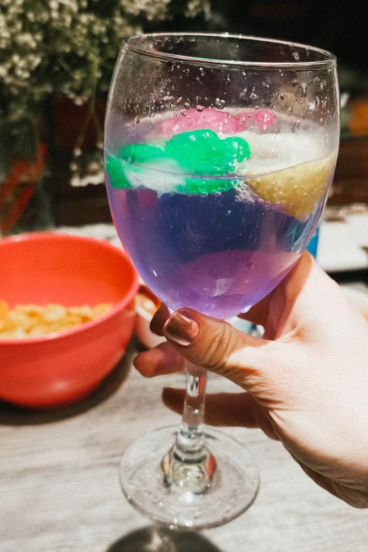Gin Violet Drink Food_