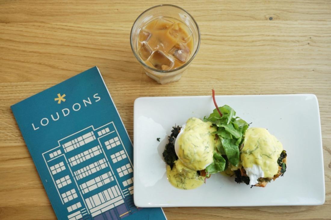 Loudons Cafe haggis eggs Benedict