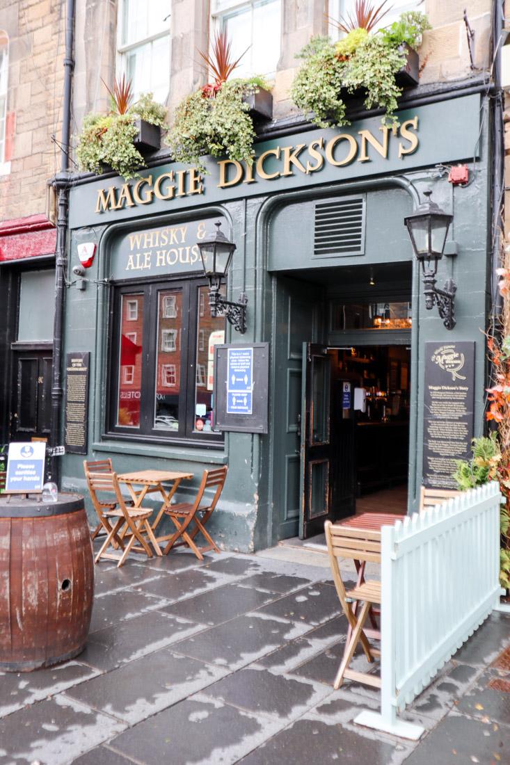 Maggie Dicksons Pub Food in Grassmarket Edinburgh