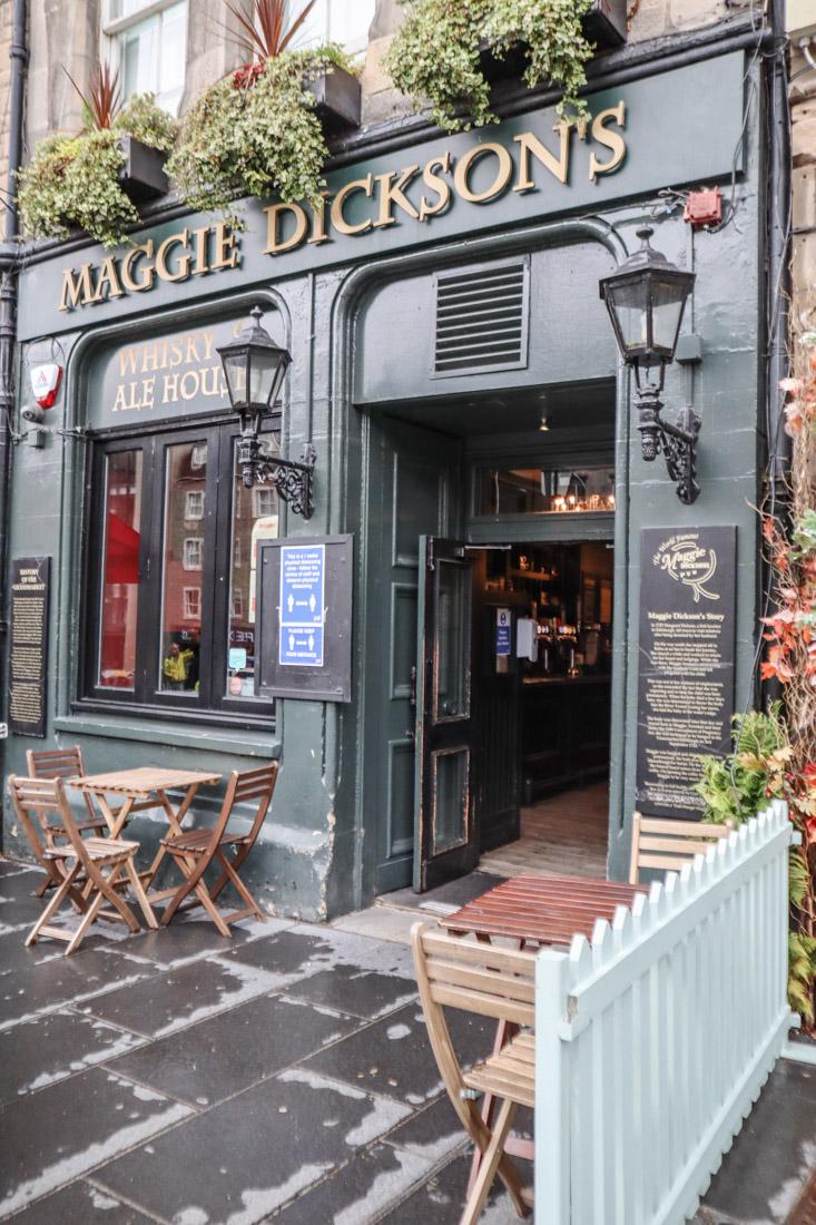 Maggie Dicksons Pub Foods in Grassmarket Edinburgh
