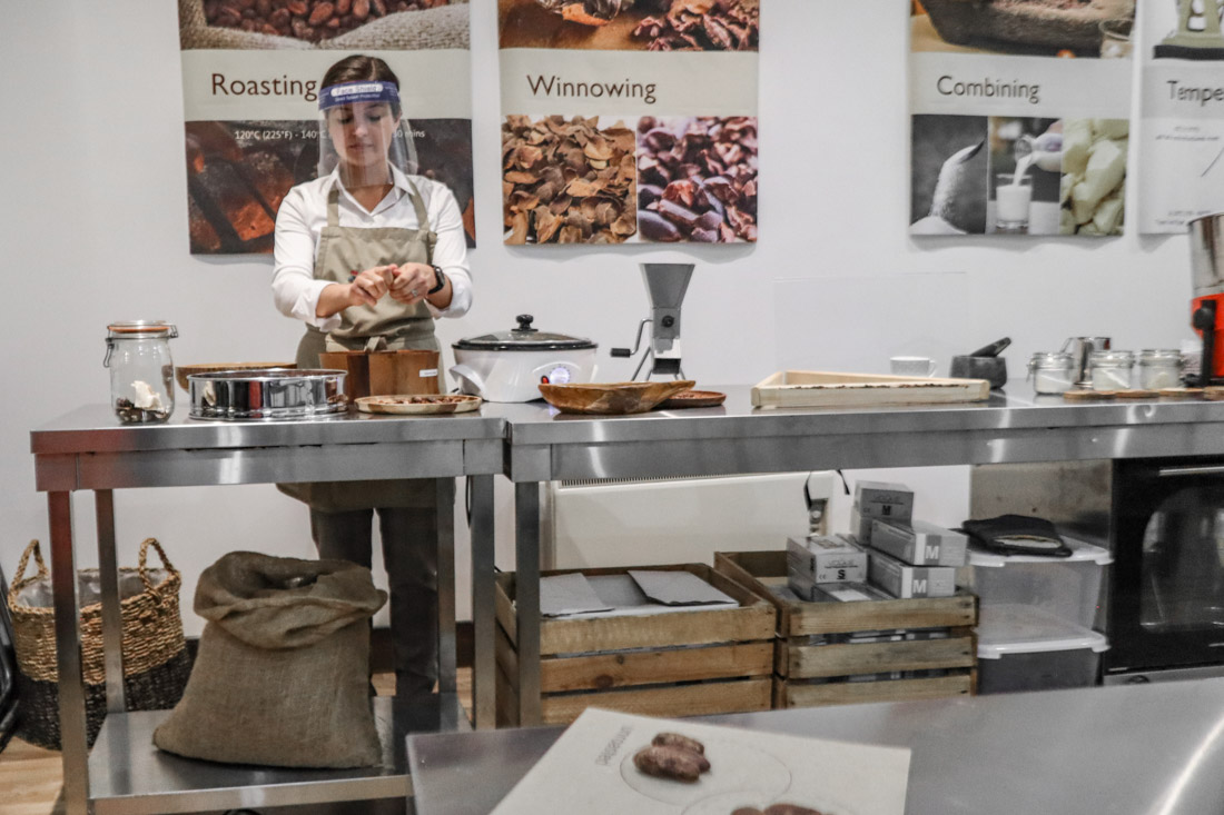 Making Chocolate with guide in The Chocolatarium Activities Tours on Royal Mile Edinburgh