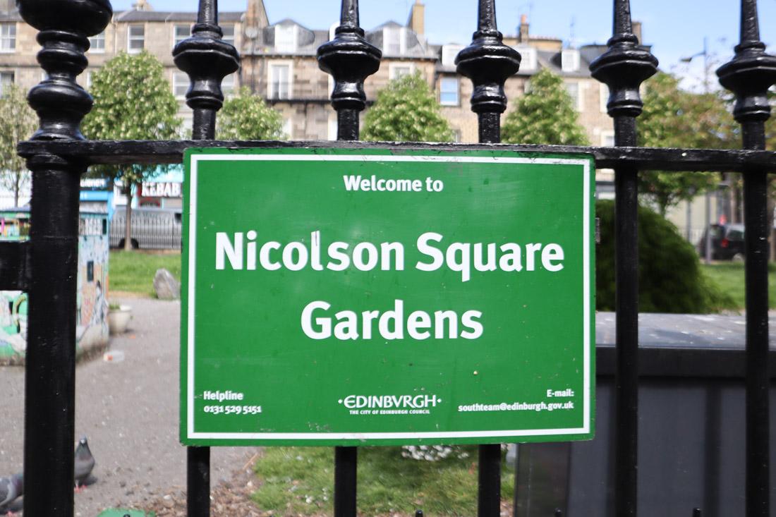 Nicholson Square Garden Edinburgh