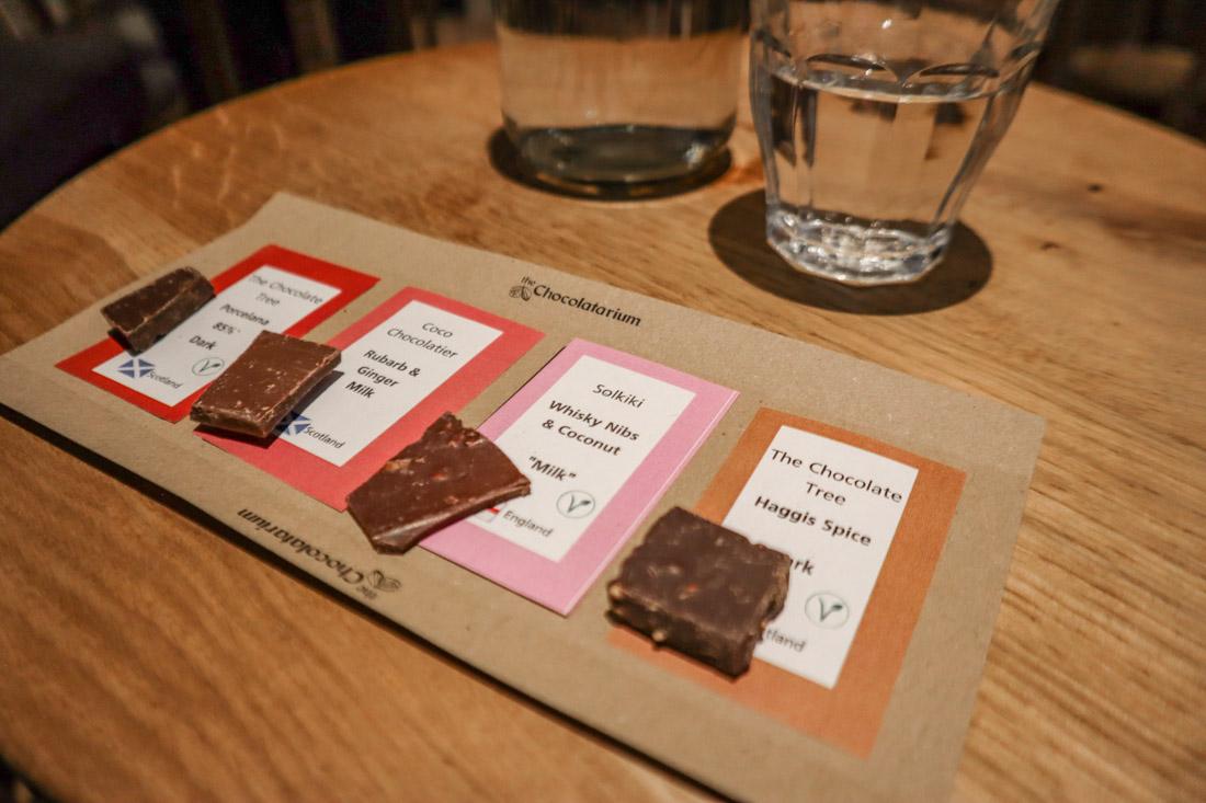 Tasting Type of Chocolates The Chocolatarium Activities Tours on Royal Mile Edinburgh