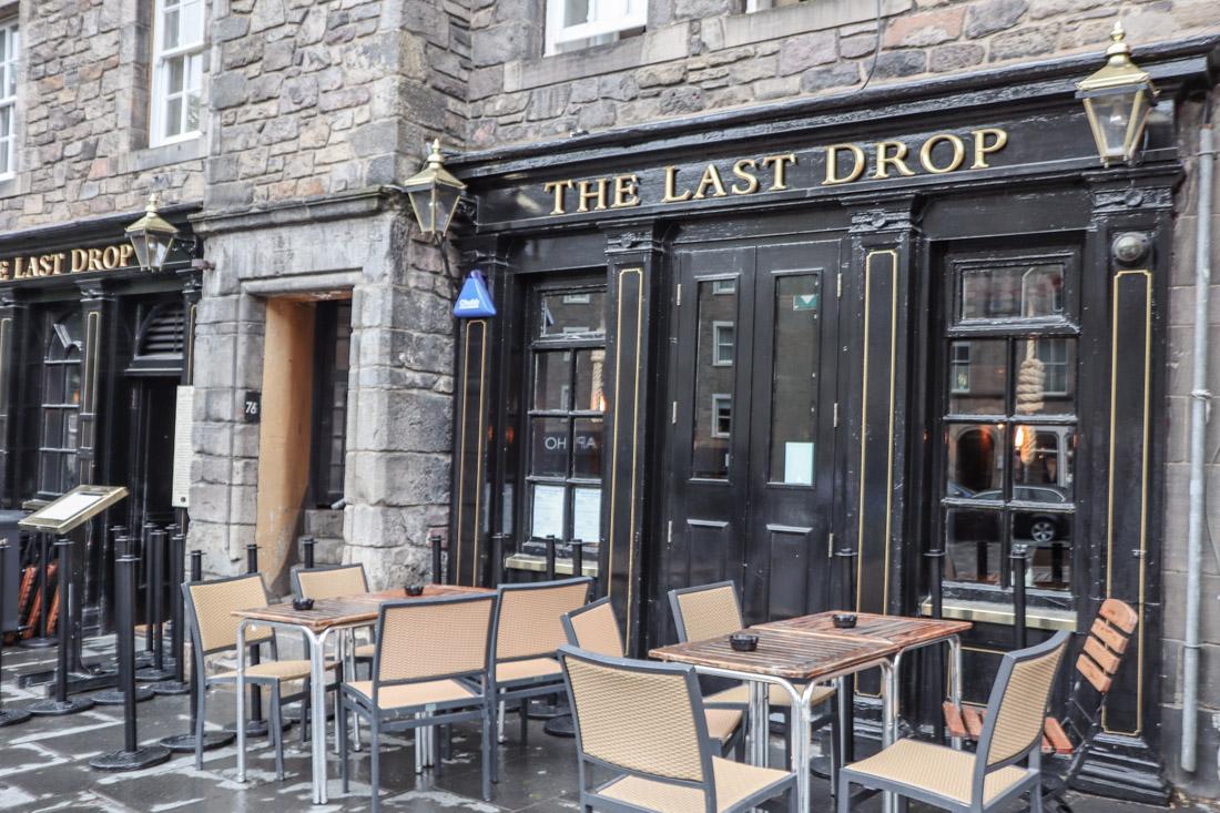 The Last Drop Food Pub in Grassmarket Edinburgh