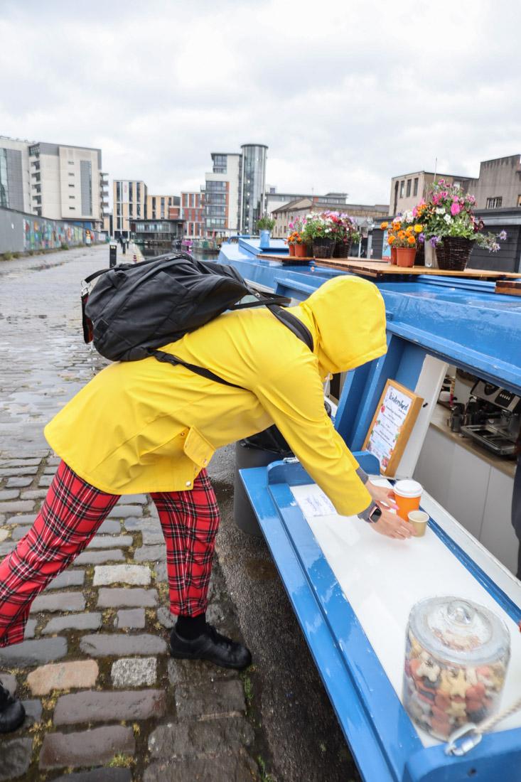 Union Canal Gemma Coffee Rain Edinburgh