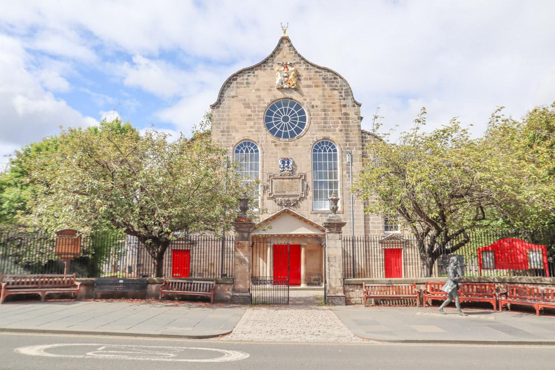 Canongate Kirk in Edinburgh Royal Mile