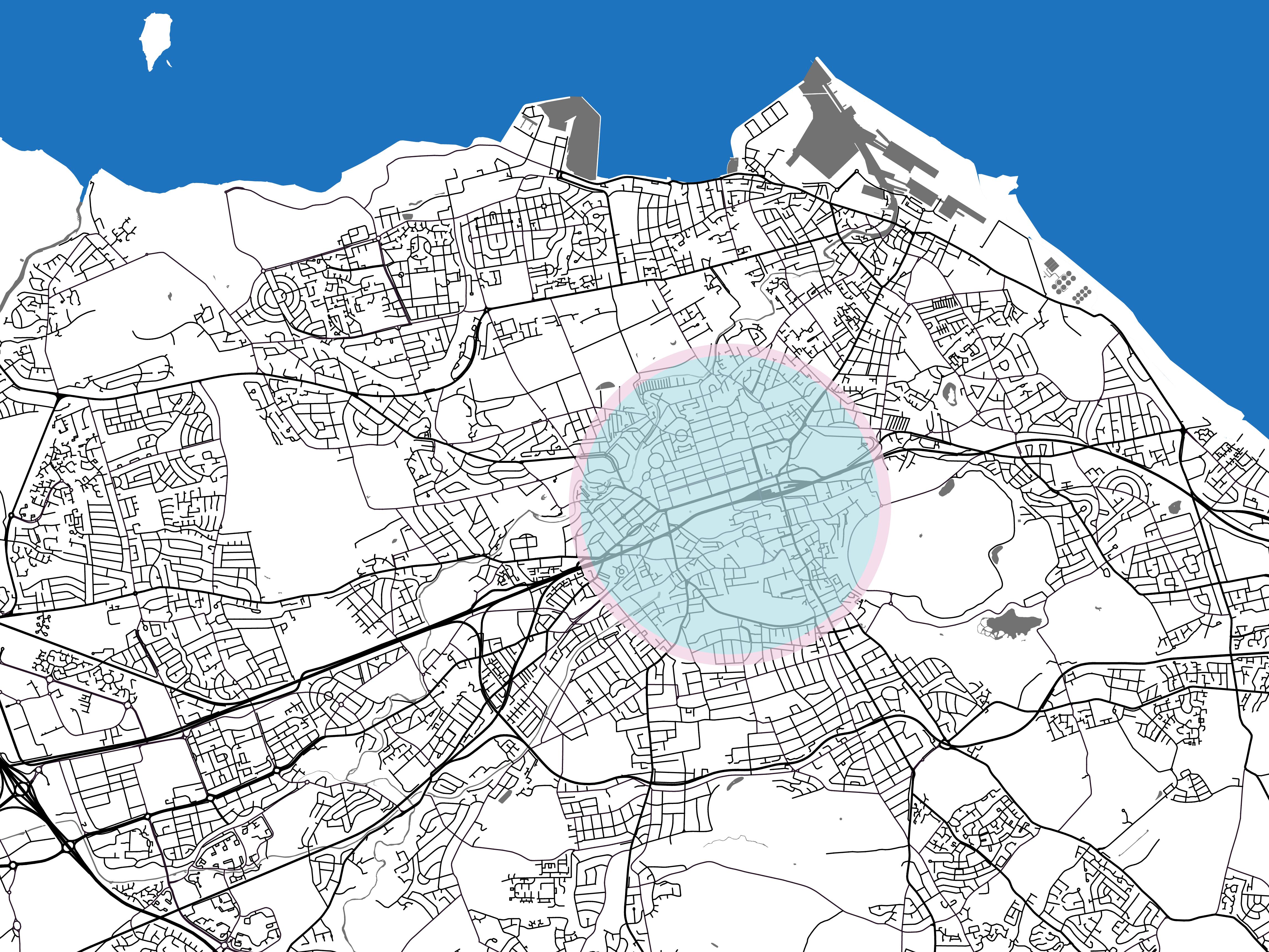 Map of Edinburgh City Centre Parking in Edinburgh