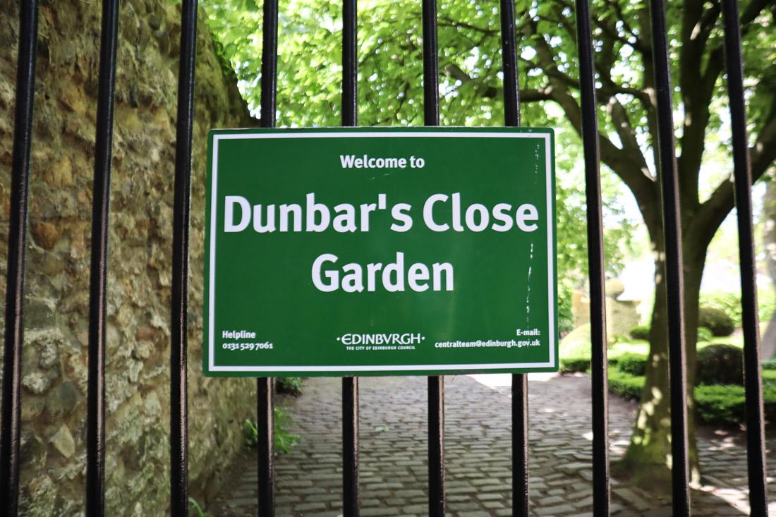 Dunbars Close Garden Royal Mile Edinburgh