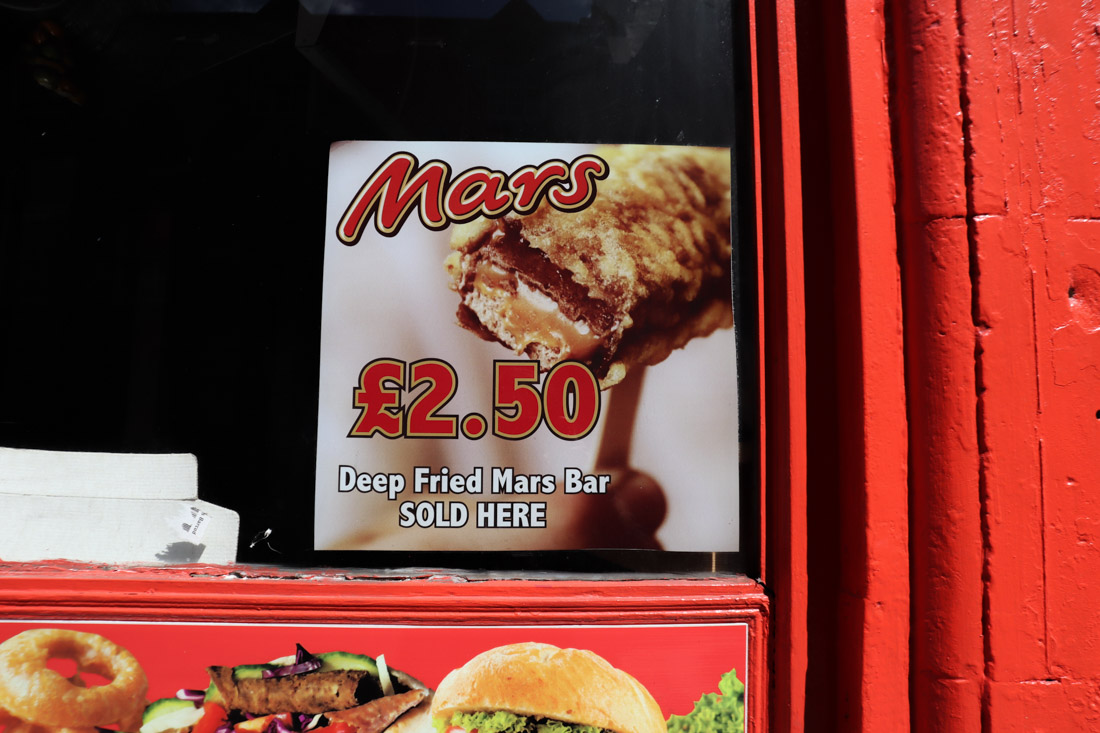 Fried Mars Bar Edinburgh Food