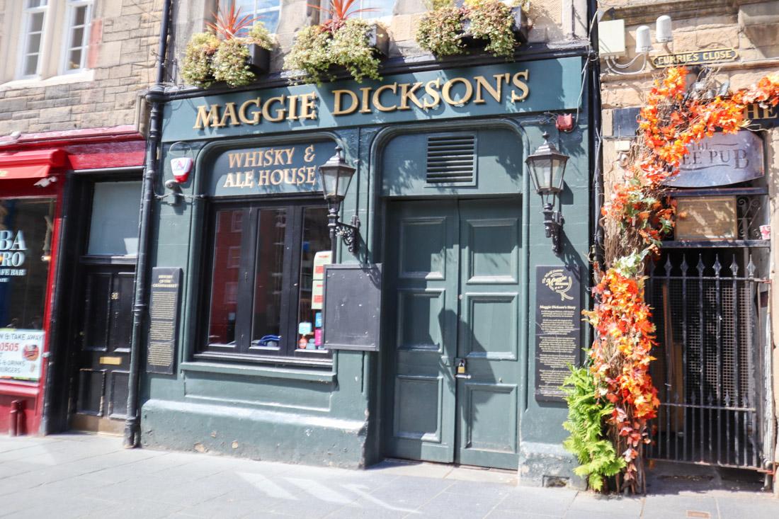 Maggie Dicksons Pub Grassmarket Edinburgh