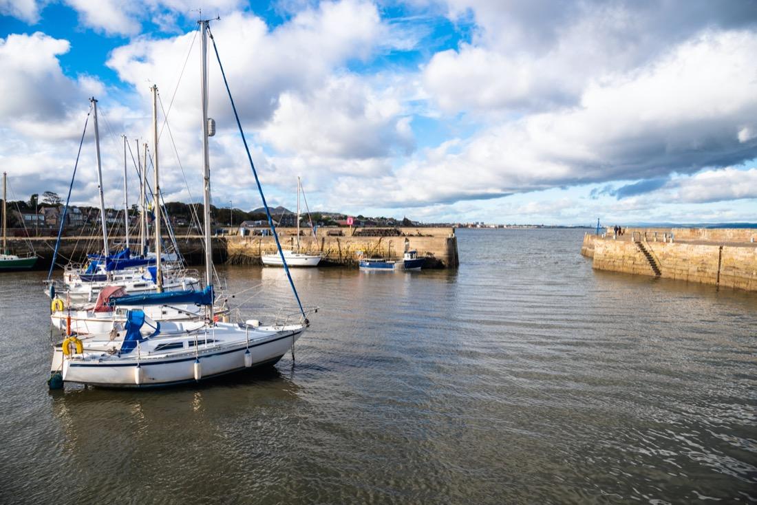Musselburgh Harbour Sailboats Edinburgh