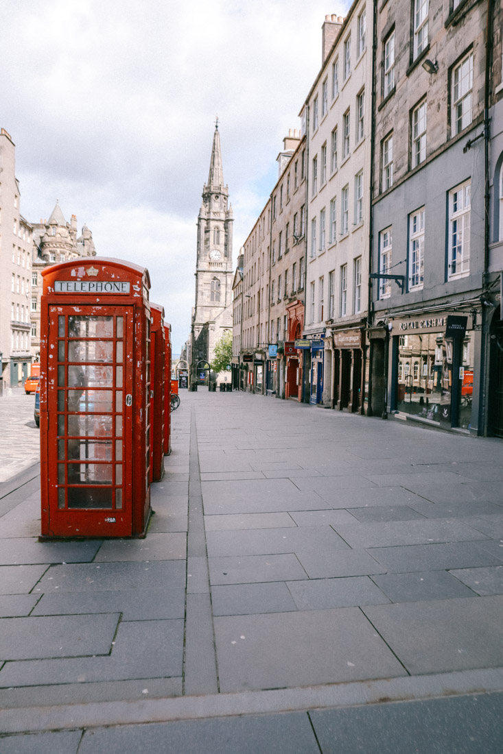 Red Phonebox on the Royal Mile