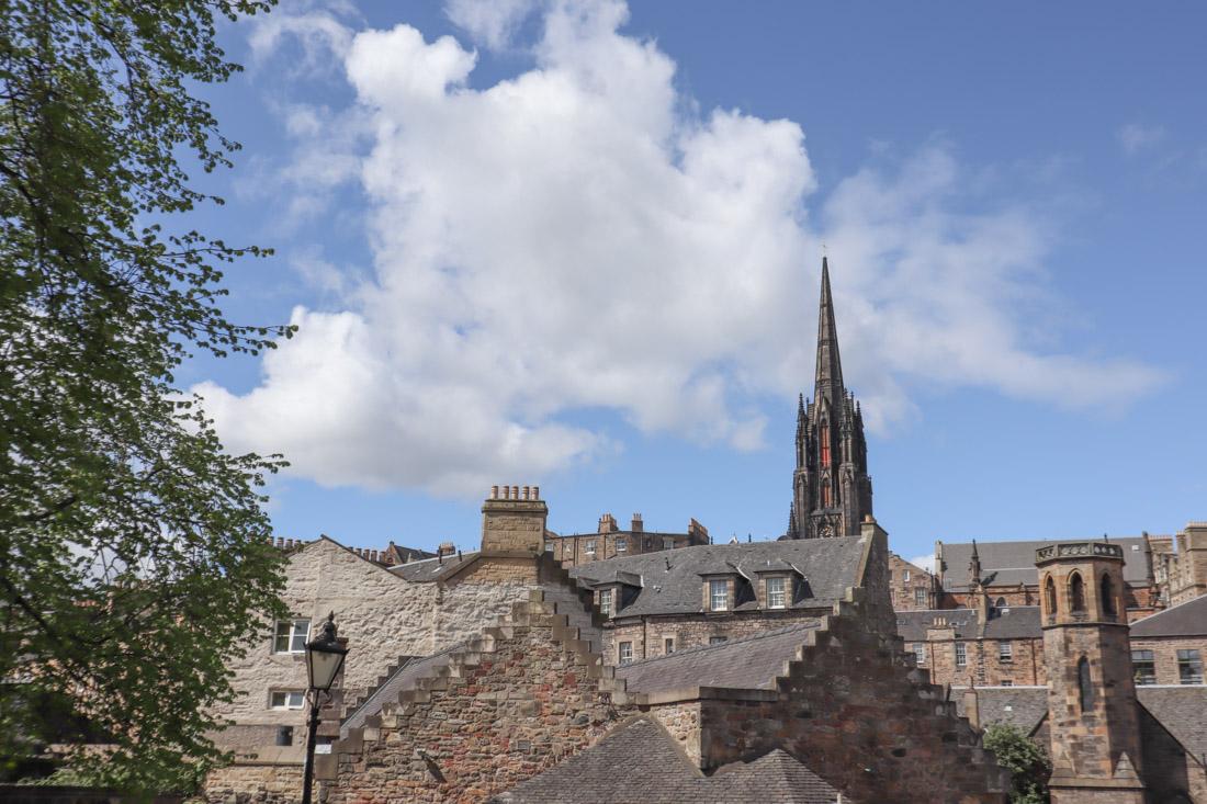 Rooftops of Old Town Tree in Edinburgh