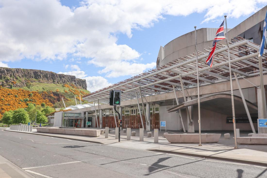 Scottish Parliament Arthurs Seat Edinburgh