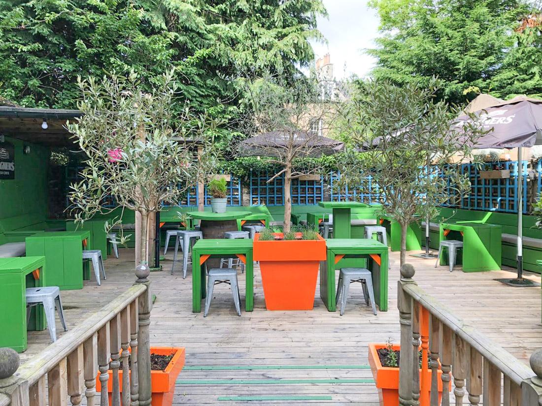 The Blackbird Beer Garden Edinburgh