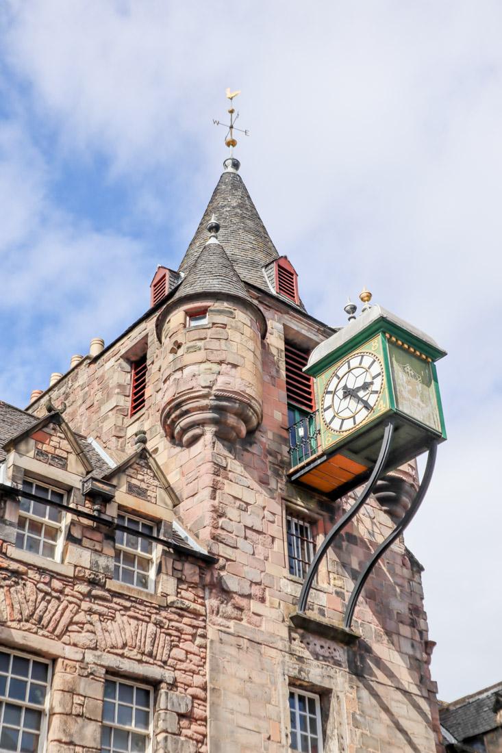 Tolbooth Clock in Edinburgh, Scotland