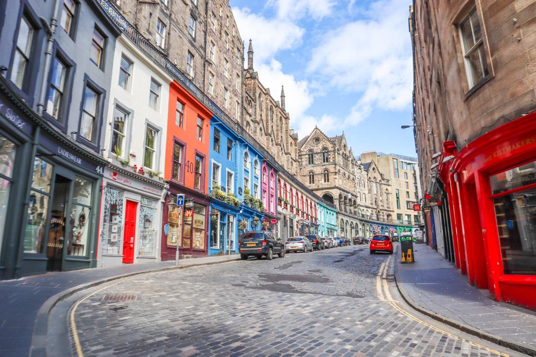 Victoria Street at Grassmarket Edinburgh