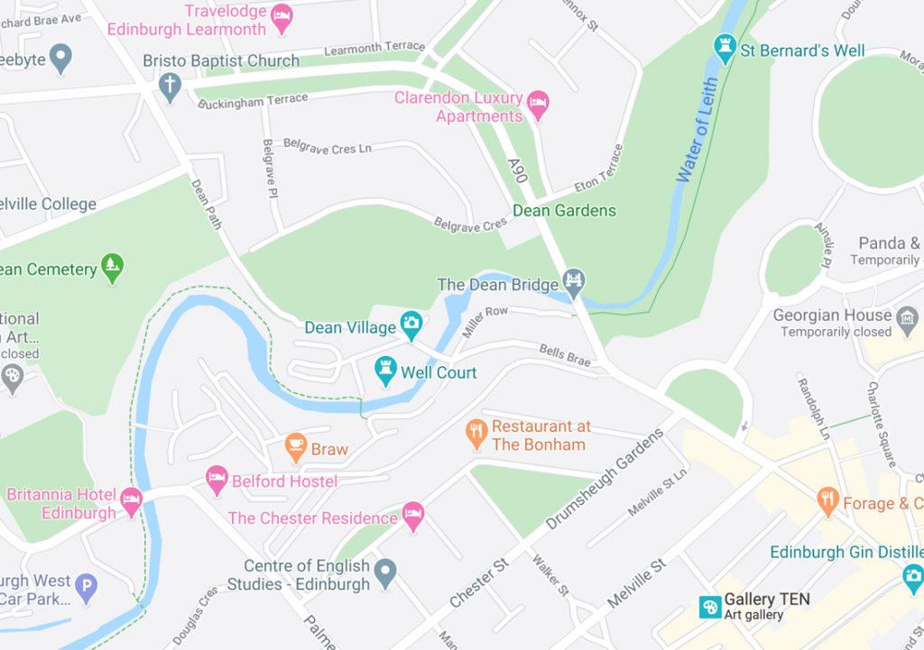 Dean Village Map