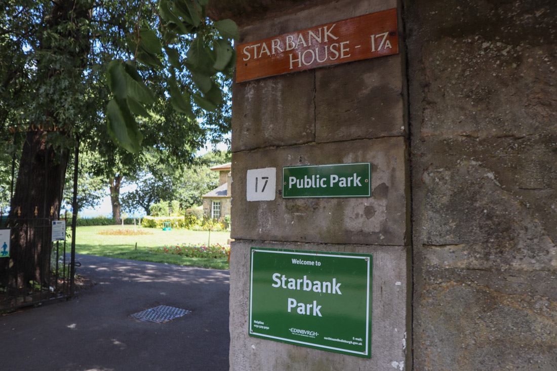Starbank Park Entry Sign