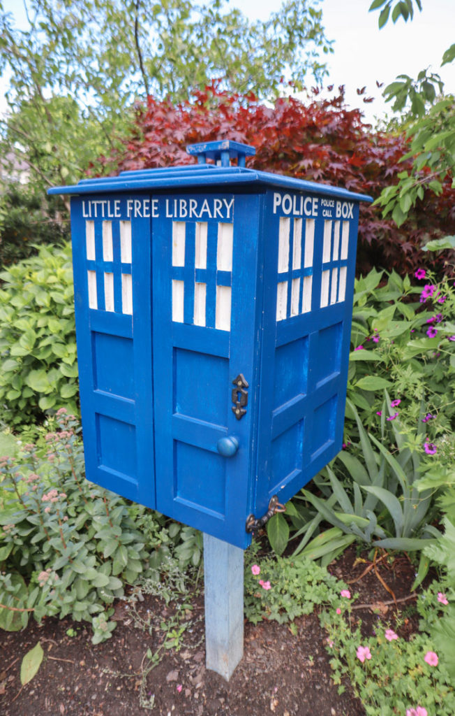 Starbank Park Free Little Library Police Box_